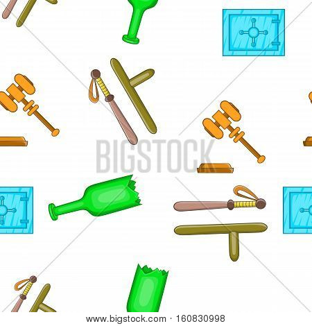 Law and justice pattern. Cartoon illustration of law and justice vector pattern for web