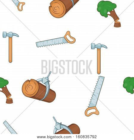 Woodworking pattern. Cartoon illustration of woodworking vector pattern for web