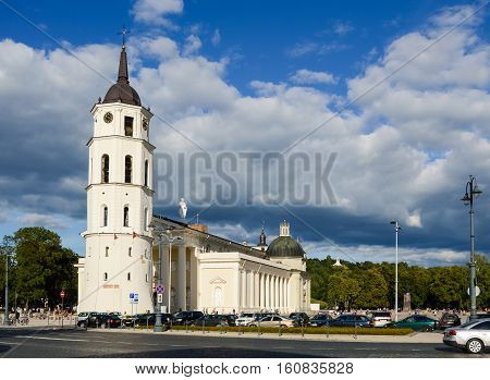 VILNIUS, LITHUANIA - AUGUST 2013: Cathedral located in Vilnius, Lithuania in August 2013
