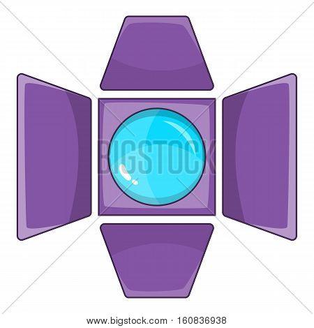 Spotlight icon. Cartoon illustration of spotlight vector icon for web