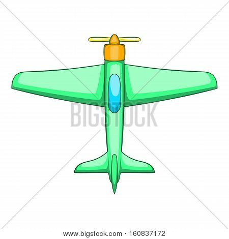 Plane icon. Cartoon illustration of plane vector icon for web