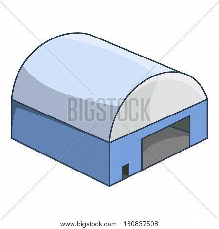 Hangar icon. Cartoon illustration of hangar vector icon for web