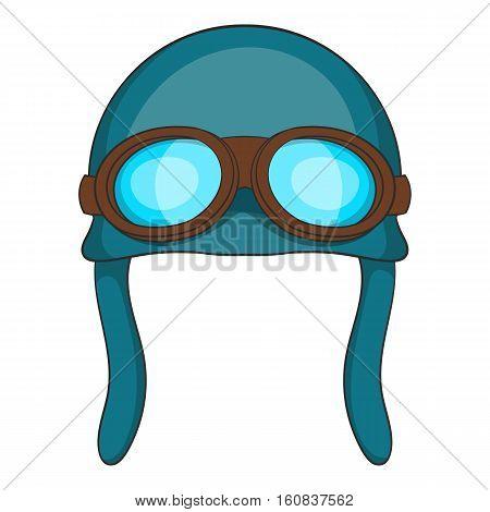Aviation helmet icon. Cartoon illustration of aviation helmet vector icon for web