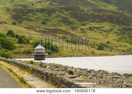 Llyn Celyn Reservoir And Intake Tower