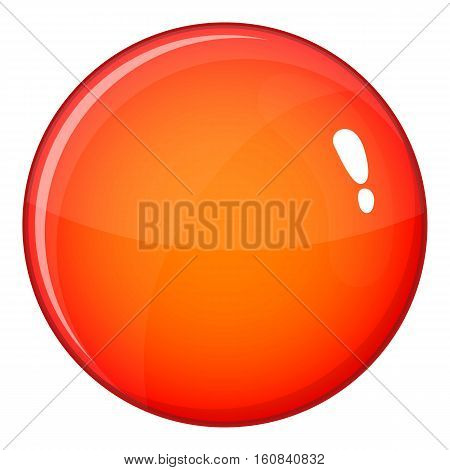 Round red button icon. Cartoon illustration of round red button vector icon for web