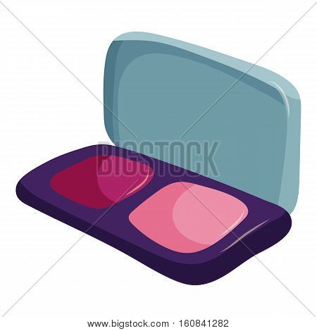 Blusher icon. Cartoon illustration of blusher vector icon for web