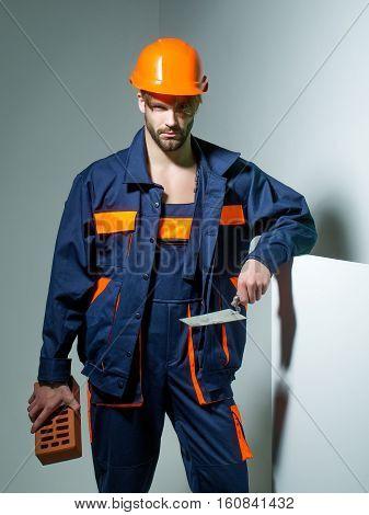 Handsome Man Builder
