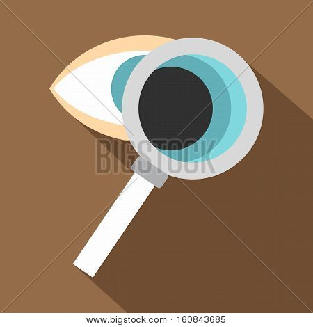 Eye diagnostic icon. Flat illustration of eye diagnostic vector icon for web