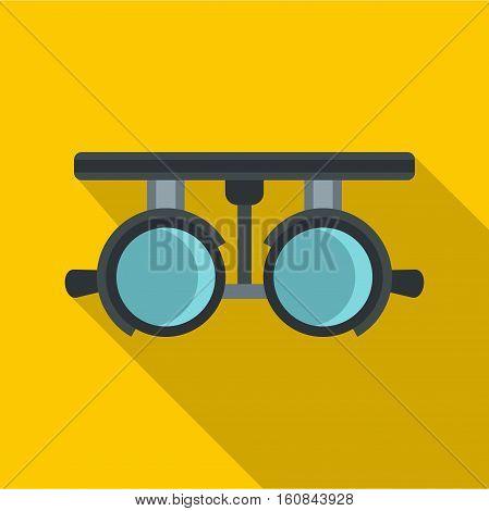 Medical autorefractometer icon. Flat illustration of medical autorefractometer vector icon for web