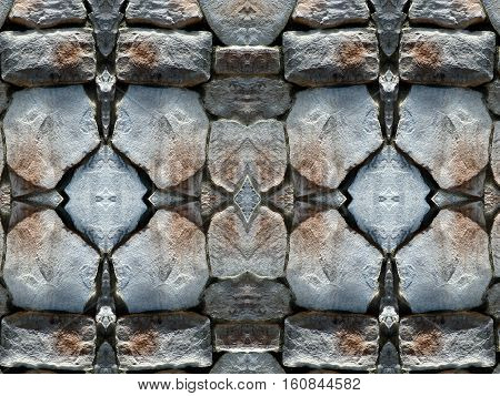 Stone wall background pattern. Old Paving Stones.
