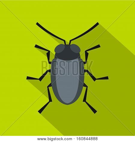 Small bug icon. Flat illustration of small bug vector icon for web