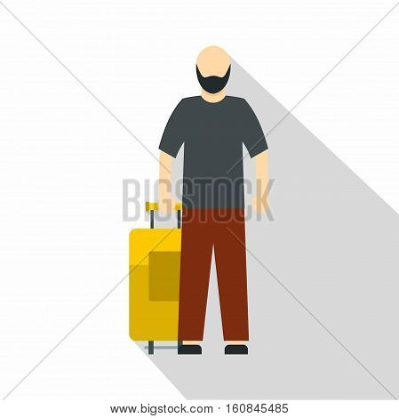 Arabic man icon. Flat illustration of arabic man vector icon for web