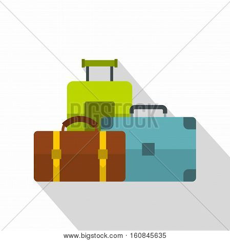 Baggage icon. Flat illustration of baggage vector icon for web