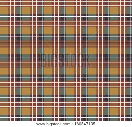 Sample seamless brown striped fabric. Vector illustration.