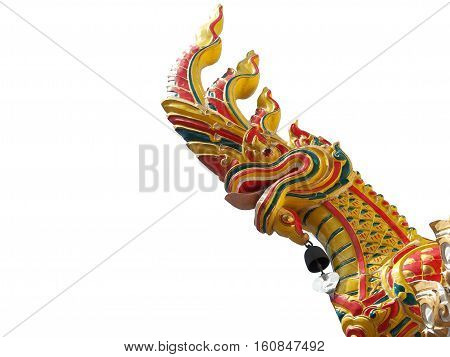 Naga or Serpent King statue in buddhist temple