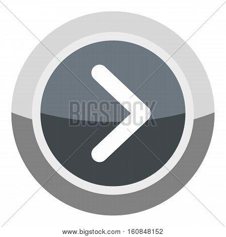 Gray round button icon. Cartoon illustration of gray round button vector icon for web