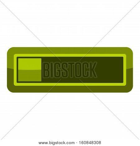 Player green button icon. Cartoon illustration of player green button vector icon for web