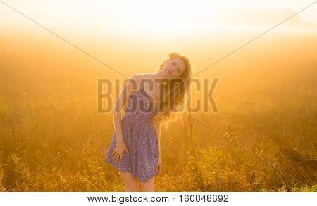 Beautiful Girl In Fog
