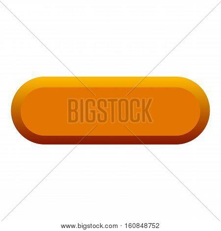 Orange button icon. Flat illustration of orange button vector icon for web