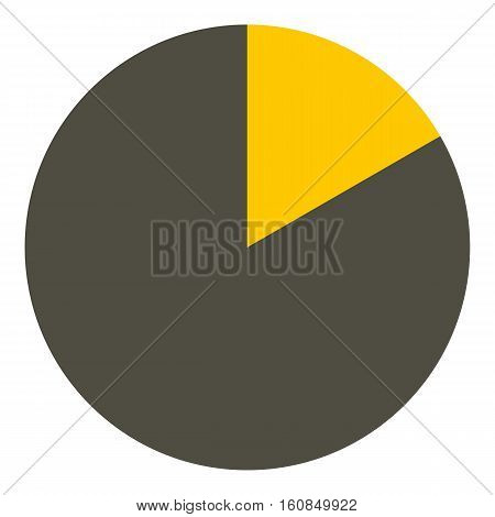Round diagram infographics. Flat illustration of round diagram vector infographics for web