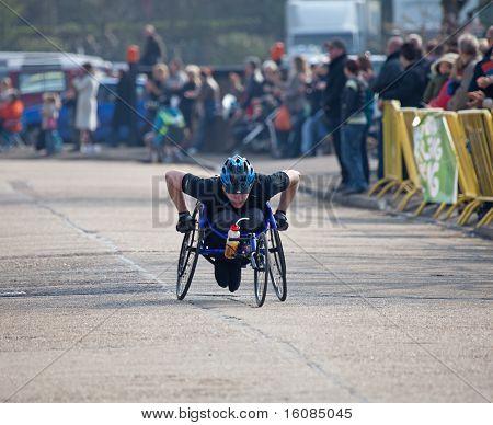 Winner Paddock Wood Wheelchair Race