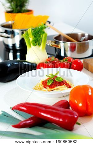Still Life In The Kitchen- Mediterran Food