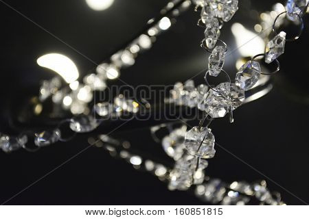 Christmas garland, glass crystal fragment chandelier, crystal chandelier