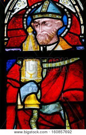Stained Glass - Catholic Saint