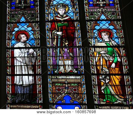 Stained Glass - Saints Stanislaus, Eugene And Isabel