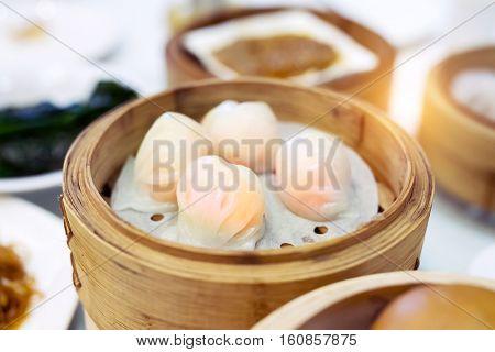 Shrimp dumplings, popular Dim Sum in china