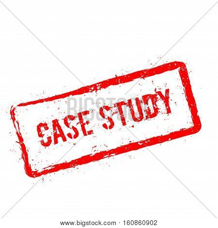 Case Study Red Rubber Stamp Isolated On White Background. Grunge Rectangular Seal With Text, Ink Tex