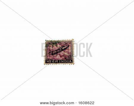 Indian Postal Stamp - Showing Gnat Fighter Plane
