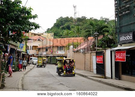 Street In Boracay Island, Philippines