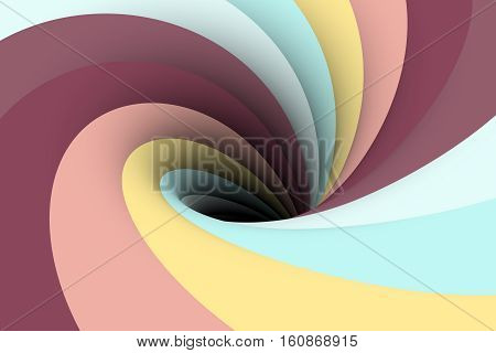 colorful hollow black hole background  3d illustration