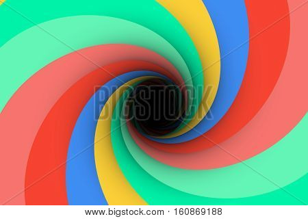 colorful gloom black hole background 3d illustration