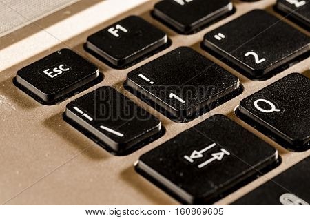 close up of a personal computer keyboard