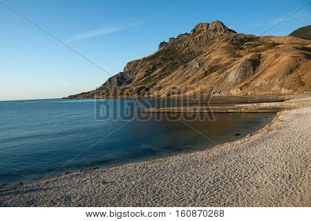 mountain on sea beach