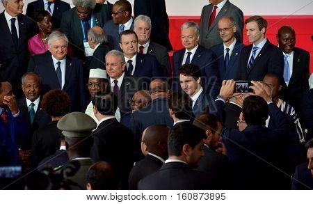 Antananarivo, Madagascar. November 26Th 2016 - Prime Minister Of Canada Justin Trudeau At The 16Th F