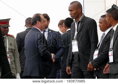 Antananarivo, Madagascar. November 26Th 2016 - French President Francois Hollande At The 16Th Franco