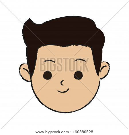 Man cartoon icon. Male avatar person people and human theme. Isolated design. Vector illustration