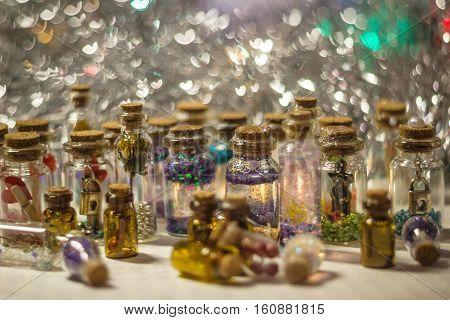 Many Decorative Bottles