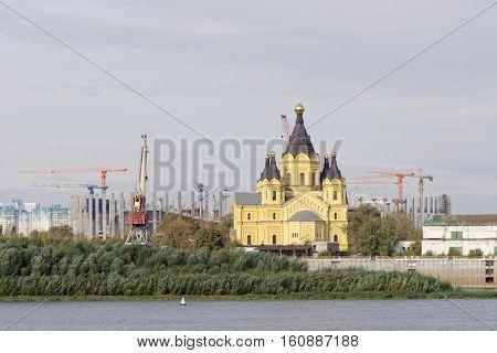 Nizhny Novgorod, Russia. - September 30.2016. Construction Of The Stadium In Nizhny Novgorod To The