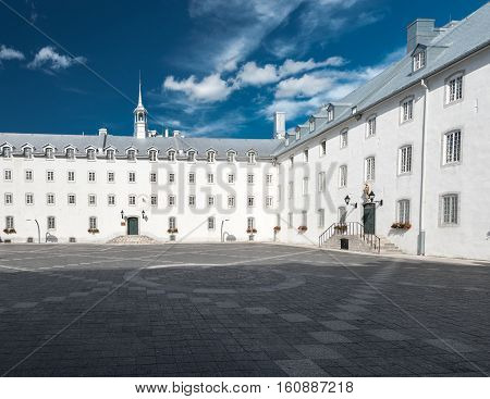Inner Court of the Seminary of Quebec in Quebec City Quebec Canada