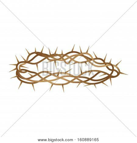 Crown of thorns isolated icon vector illustration design