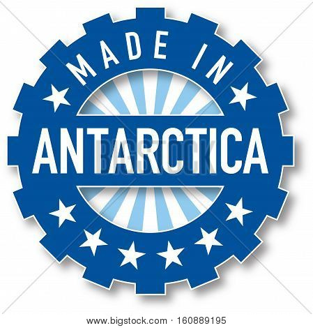 Made In Antarctica Flag Color Stamp.