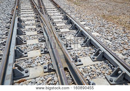 The turning point of the rails, straight, iron, pillar, turn, industry,