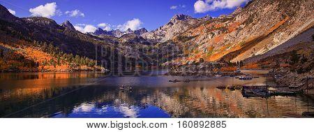 Lake Sabrina is a popular lake in Bishop California.