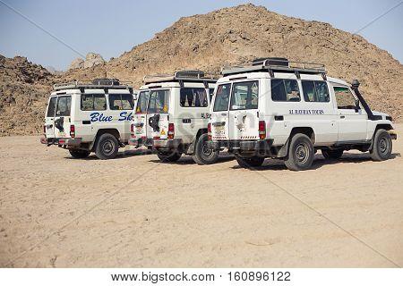 Egypt Sharm el sheikh - august 2016: SUV car safari tourism without people