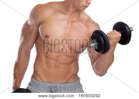 Bodybuilding Bodybuilder Muscles Biceps Body Builder Building Power Strong Young Man Dumbbell Traini