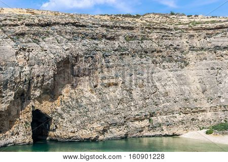 entrance of Inland Sea divesite in malta